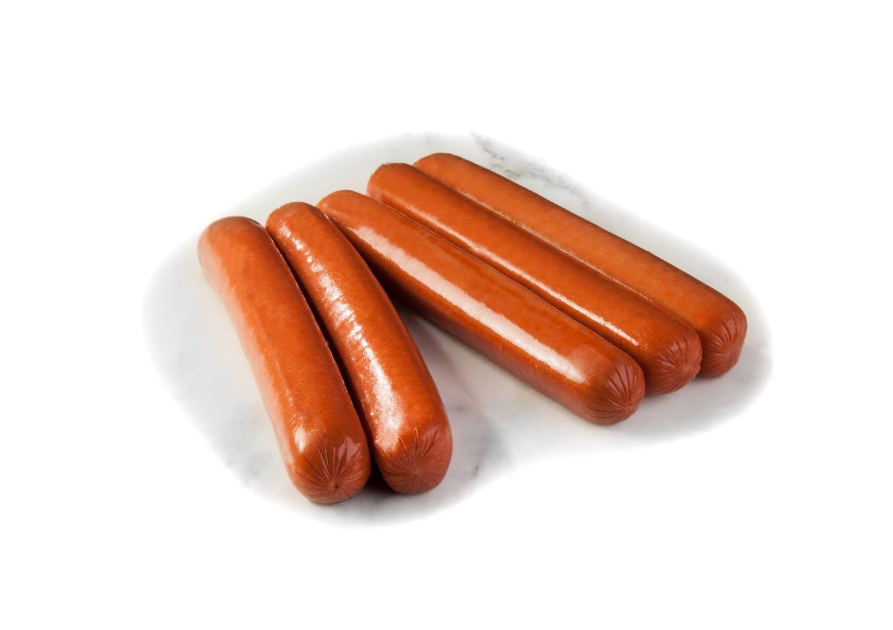 Beef Hot Dog Food Label